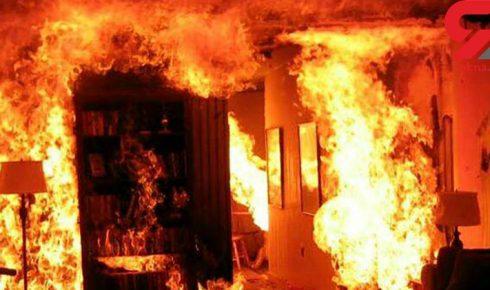 مرگ+پیرزن+لنگرودی+در+آتش
